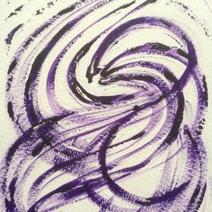 Lila-szín-vonal festmény, Művészet, Akril, Festmény, Festészet, Meska