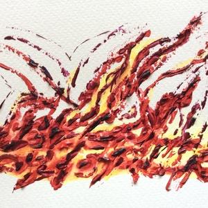 16/30 Napi festmény, Képzőművészet, Otthon & lakás, Festmény, Napi festmény, kép, Lakberendezés, Festészet, 11x15  cm-es akril festmény.\n\nEcsettel és festőkéssel készült.\nEredeti, egyedi festmény, másolat, ny..., Meska