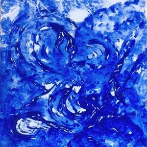 """""""Felhő-játék""""- festmény, Művészet, Akril, Festmény, 30x30 cm-es akril vászon festmény.  Eredeti, egyedi festmény, másolat, nyomat nem készül belőle. Fak..., Meska"""