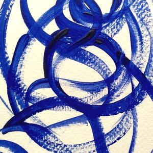 �Kékség-M- festmény - művészet - festmény - akril - Meska.hu