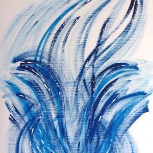 �Kék-árnyalatok- festmény, Művészet, Akril, Festmény, Festészet, Meska