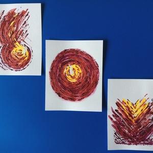 """""""Kell egy kis napfény""""- 3-as festmény, Otthon & lakás, Képzőművészet, Festmény, Akril, Lakberendezés, Falikép, Dekoráció, Kép, Festészet, 3 db 12x15 cm-es akril festmény\n\nEcsettel és festőkéssel készültek.\nEredeti, egyedi festmények, adot..., Meska"""