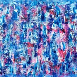 Vidám-színek festmény, Művészet, Festmény, Akril, Festészet, 21x30 cm-es akril festmény.\n\nVidám színei segítik a jó hangulatot. \nEcsettel és festőkéssel készült...., Meska