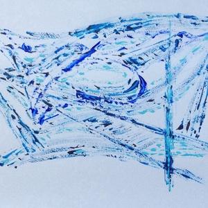 Kék formavilág, Művészet, Festmény, Akril, Festészet, Meska