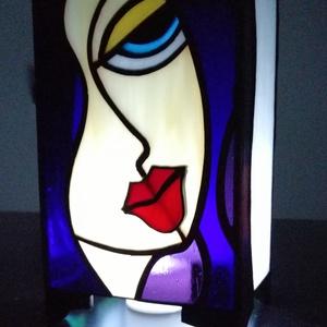 Tiffany üveg hangulat lámpás (LED vagy teamécsessel világítható) , Otthon & Lakás, Lámpa, Hangulatlámpa, Üvegművészet, Tiffany technikával készített hangulat lámpa/mécseslámpa minőségi üvegekből, különleges, egyedi mint..., Meska