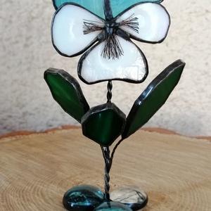 Tiffany üveg árvácskák - otthon & lakás - dekoráció - asztaldísz - Meska.hu