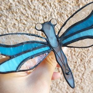Tiffany szitakötő (csodás kékség) - Meska.hu