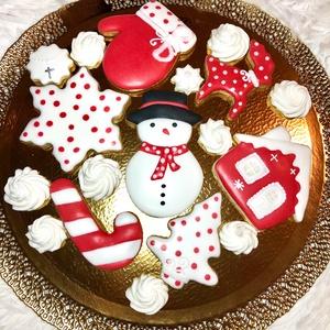 Karácsonyi mézeskalács, Kulinária (Ízporta), Méz, Mézeskalácssütés, kézzel készült mézeskalács\ntöbbféle méretben\nCukormázzal díszítve, Meska