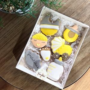 Baba mézes box, Édesség, Élelmiszer, Mézeskalácssütés, Mézeskalácsból készült , baba köszöntő box.\nA doboz mérete15*20 cm\n, Meska