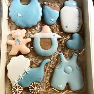 Baba mézeskalács, Édesség, Élelmiszer, Mézeskalácssütés, Mézeskalácsból készült baba box. A doboz mérete 15*20 cm.\n, Meska
