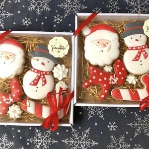 Karácsonyi mézes box, Egyéb, Kulinária (élelmiszer), Édességek, Méz, Mézeskalácssütés, kézzel készült , mézeskalácsok.\nA doboz mérete14*14 cm\n, Meska