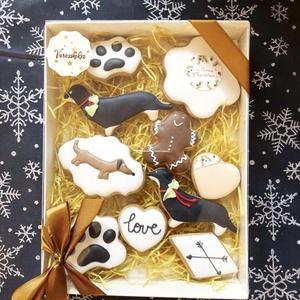 Karácsonyi mézes box, Élelmiszer, Édesség, Mézeskalácssütés, A box mérete 15*20 cm\n, Meska