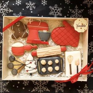 Karácsonyi mézesbox, Élelmiszer, Édesség, Mézeskalácssütés, A doboz mérete 15*20 cm\n, Meska