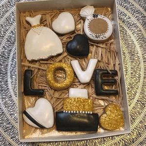 esküvői box, Esküvő, Esküvői szett, Mézeskalácssütés, a doboz mérete: 15*20 cm\n, Meska