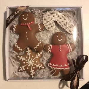 karácsonyi mézes box, Élelmiszer, Édesség, Mézeskalácssütés, A doboz mérete:14*14 cm\n, Meska