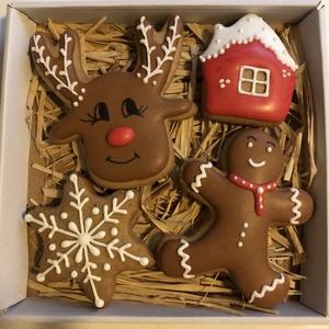 Karácsonyi mézes box, Élelmiszer, Édesség, Mézeskalácssütés,  A doboz mérete14*14 cm, Meska