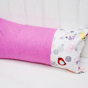Párna  60x30cm   Rózsaszín, pink, magenta színben   Hímezhető, Otthon & Lakás, Párna & Párnahuzat, Lakástextil, Párna | 60x30cm | Rózsaszín pamutvászon és színes designer textillel |   Ez a párnahuzat még hímzés ..., Meska