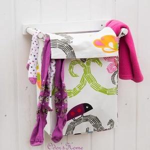 Szennyestartó vidám textillel, textil zsák - fali szennyes tartó - plüss állat tároló - függő textil kosár - textil zsák, Otthon & Lakás, Tárolás & Rendszerezés, Szennyestartó, Ez lesz a kedvenc plüss állat tároló a gyerekszobában, vagy a kedvenc fürdőszobai kiegészítőd az álm..., Meska