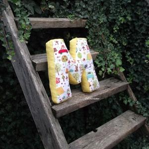 M betűpárna, textil betű Szivaccsal tömött 30cm magas (OdorsHome) - Meska.hu