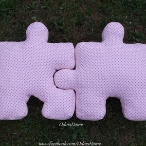 Puzzle párna szett - formapárna - dekorációs párna - ülőpárna - játszószőnyeg - NAGY méretű összeilleszthető párna, Otthon & Lakás, Párna & Párnahuzat, Lakástextil, Puzzle formájú párna szettet készítettünk, ami tökéletes ajándék a szerelmes pároknak, mivel összeil..., Meska