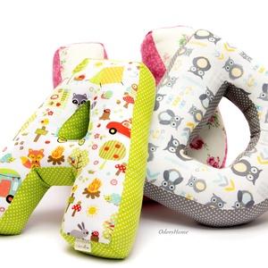 D Betűpárna, textil betű babáknak, 30cm magas (OdorsHome) - Meska.hu