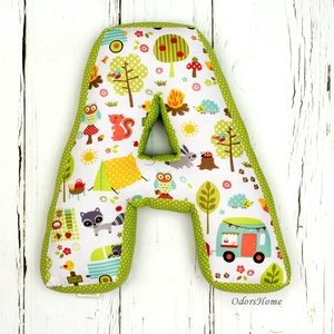 Betűpárna, formapárna, textil betű - babaszoba dekoráció, babalátogató ajándék, névnapi ajándék, személyreszóló, Otthon & Lakás, Párna & Párnahuzat, Lakástextil, Kedves, ölelni való párnát készítettünk a legkisebbek számára. Szuper ajándékötlet ha babalátogatóba..., Meska