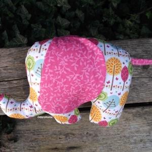 Elefánt textil figura - babajáték - elefántos babaszoba - minky elefánt - puha játék - figurapárna - elefántos, Gyerek & játék, Játék, Baba játék, Plüssállat, rongyjáték, Aranyos kislány elefánt figura a legkisebbek számára, ami igazán babakezekbe való.  Olyan textil fig..., Meska