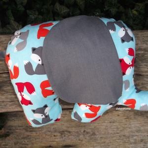 Elefánt textil figura - babajáték - elefántos babaszoba - minky elefánt - puha játék - figurapárna - elefántos, Gyerek & játék, Játék, Baba játék, Plüssállat, rongyjáték, Varrás, Aranyos kisfiús elefánt figura a legkisebbek számára, ami igazán babakezekbe való.\n\nOlyan textil fig..., Meska