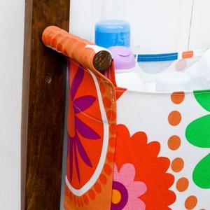 Falra szerelhető tároló 3 textil zsákkal - Fürdőszobai tároló - pipere tárolás - textil tároló - zsákos tároló (OdorsHome) - Meska.hu