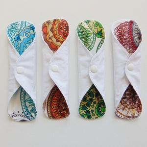 Mosható tisztasági betét csomag (4 db/cs) - színes mandala mintás  /mosható textil betét, puha, kényelmes - Meska.hu