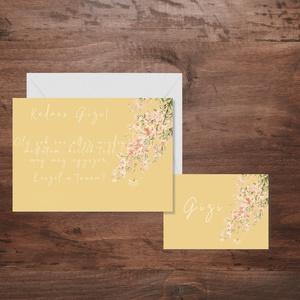 Rózsaszín virágos tanúfelkérő, esküvő, meghívó, dekor, party, Esküvő, Meghívó, Meghívó & Kártya, Fotó, grafika, rajz, illusztráció, Papírművészet, Meska