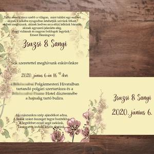 Őszies esküvői meghívó szett, Esküvő, Meghívó, Meghívó & Kártya, Fotó, grafika, rajz, illusztráció, Papírművészet, Meska
