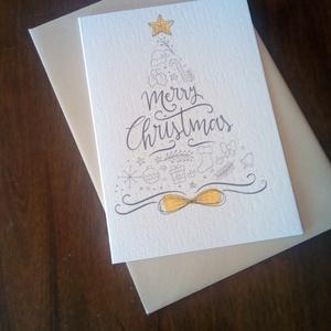 Elegáns karácsonyi képeslap szett, Karácsonyi képeslap, Karácsony & Mikulás, Otthon & Lakás, Fotó, grafika, rajz, illusztráció, Papírművészet, Elegáns karácsonyi képeslap.\n\nMérete B6, borítékkal együtt egy csomag.\n\nA grafikai tervezés saját, a..., Meska