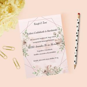 Őszies stílusú esküvői meghívó, Esküvő, Meghívó, Meghívó & Kártya, Papírművészet, Fotó, grafika, rajz, illusztráció, Meska