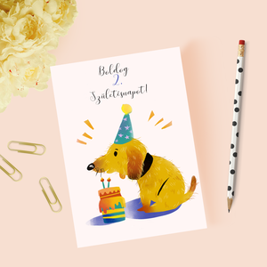 Egyedi szövegezésű születésnapi képeslap, szülinapi képeslap, üdvözlőlap, Képeslap & Levélpapír, Papír írószer, Otthon & Lakás, Fotó, grafika, rajz, illusztráció, Papírművészet, Egyedi szövegezésű születésnapi képeslap borítékkal csomaggal.\n\nA képeslap külső- és belső szövegezé..., Meska