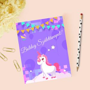 Egyedi szövegezésű születésnapi képeslap, szülinapi képeslap, üdvözlőlap, Otthon & Lakás, Képeslap & Levélpapír, Papír írószer, Fotó, grafika, rajz, illusztráció, Papírművészet, Meska