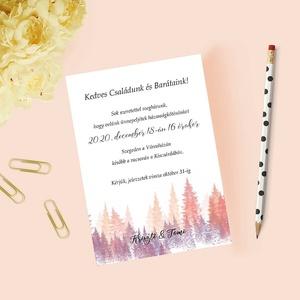 Téli esküvői meghívó, Esküvő, Meghívó, Meghívó & Kártya, Papírművészet, Fotó, grafika, rajz, illusztráció, Meska