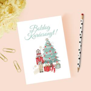 Karácsonyi képeslap, ajándék, üdvözlőlap, Otthon & Lakás, Papír írószer, Képeslap & Levélpapír, Papírművészet, Meska