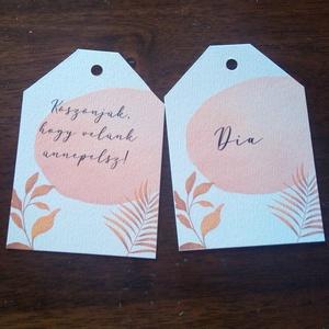 Rosegold, virágos ültető kártya, köszönő kártya, Esküvő, Meghívó & Kártya, Ültetési rend, Fotó, grafika, rajz, illusztráció, Papírművészet, Meska