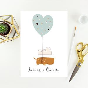 Egyedi szövegezésű Valentin-napi képeslap, üdvözlőlap, Otthon & Lakás, Papír írószer, Képeslap & Levélpapír, Fotó, grafika, rajz, illusztráció, Papírművészet, Meska