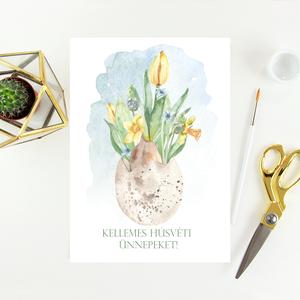 Húsvéti képeslap, ajándék, üdvözlőlap, Otthon & Lakás, Papír írószer, Képeslap & Levélpapír, Papírművészet, Meska