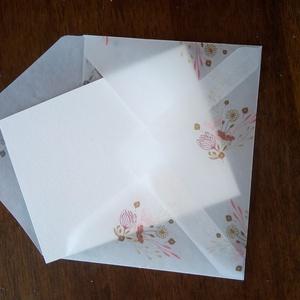 C6-os virág mintás, áttetsző pauszboríték, Otthon & Lakás, Papír írószer, Boríték, Papírművészet, Meska