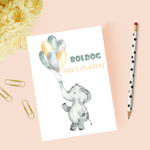 Egyedi szövegezésű születésnapi képeslap, szülinapi képeslap, üdvözlőlap, Otthon & Lakás, Papír írószer, Képeslap & Levélpapír, Fotó, grafika, rajz, illusztráció, Papírművészet, Meska