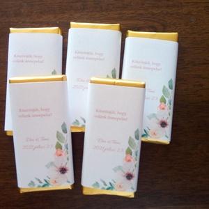 Egyedi csokipapír, köszönő ajándék esküvőre - Meska.hu