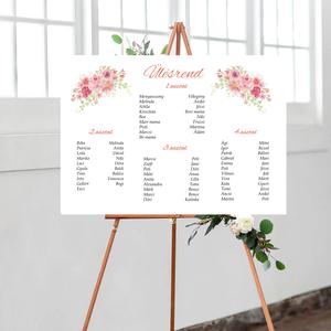 Barack virágos esküvői ülésrend, vintage esküvői kellék, Esküvő, Meghívó & Kártya, Ültetési rend, Fotó, grafika, rajz, illusztráció, Papírművészet, Meska