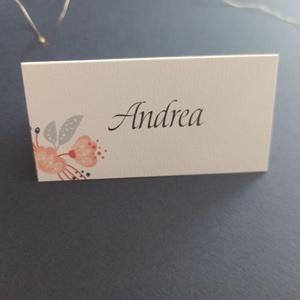 Virágos ültetőkártya esküvőre, születésnapra, partyra - esküvő - meghívó & kártya - Meska.hu