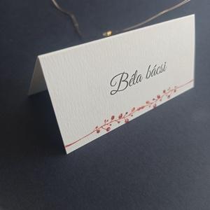 Őszies ültetőkártya esküvőre, születésnapra, partyra, Esküvő, Meghívó & Kártya, Papírművészet, Fotó, grafika, rajz, illusztráció, Meska