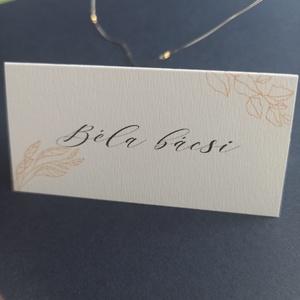Őszies ültetőkártya esküvőre, születésnapra, partyra - esküvő - meghívó & kártya - Meska.hu