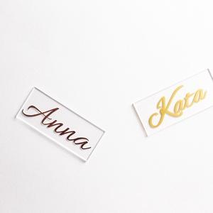 Plexi ültetőkártya esküvőre, több méretben és formával, Esküvő, Meghívó & Kártya, Fotó, grafika, rajz, illusztráció, Meska