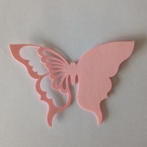 Lézervágott pillangó alakú ültetőkártya, Esküvő, Meghívó & Kártya, Papírművészet, Meska